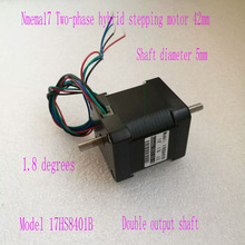 Free Shipping 78 Oz-in/48mm 1.8A Nema 17HS8401B stepping motor Nema17 stepper motor (Dual shaft)