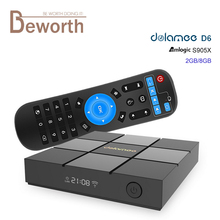 DOLAMEE D6 Amlogic S905X KODI 4K Smart TV BOX Android 6.0 Marshmallow 2G/8G WIFI LAN HDMI VP9 Bluetooth Media Player Set Top Box
