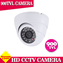 "24pcs IR LED Night vision Real 900TVL 1/3"" Color CMOS High Resolution IR Indoor Dome Camera CCTV Camera(China)"