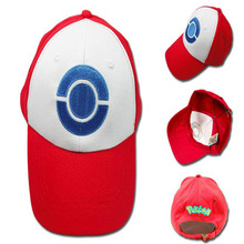 Hot Sale Anime Pocket Monster Pokemon Trainer Ash Ketchum Baseball Cap Cosplay Hat dropshipping
