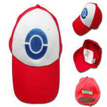 Hot Sale Anime Pocket Monster Pokemon Trainer Ash Ketchum Baseball Cap Cosplay Hat dropshipping(China)