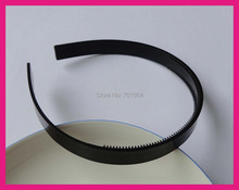 "10PCS 13mm 1/2"" Black Plain Plastic Hair Headbands with two rows small teeth suitable to lined fabric,BARGAIN for BULK"