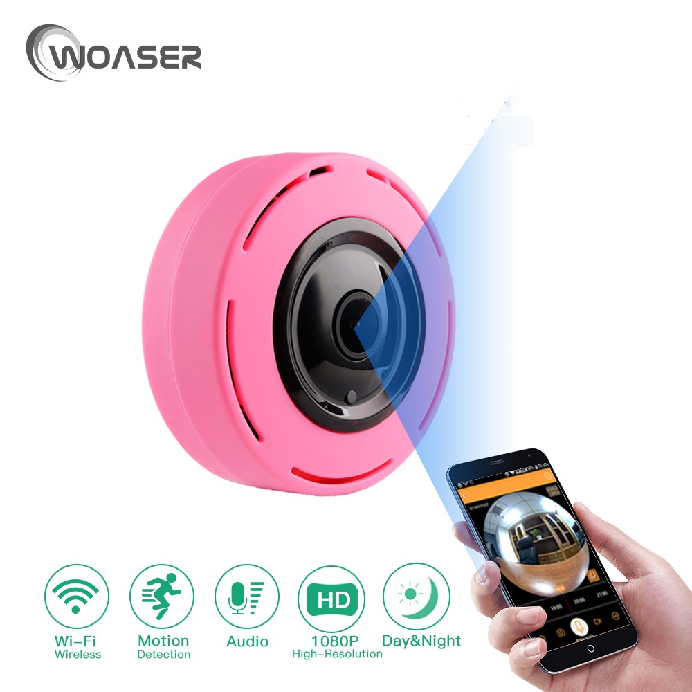 WOASER 2.0M Wireless Wifi IP Camera 128G TF Card Slot Home Security Camera 1080P Night Vision 1.44MM Lens security IP camera<br>
