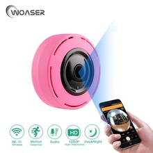 WOASER 2.0M Wireless Wifi IP Camera 128G TF Card Slot Home Security Camera 1080P Night Vision 1.44MM Lens security IP camera(China)
