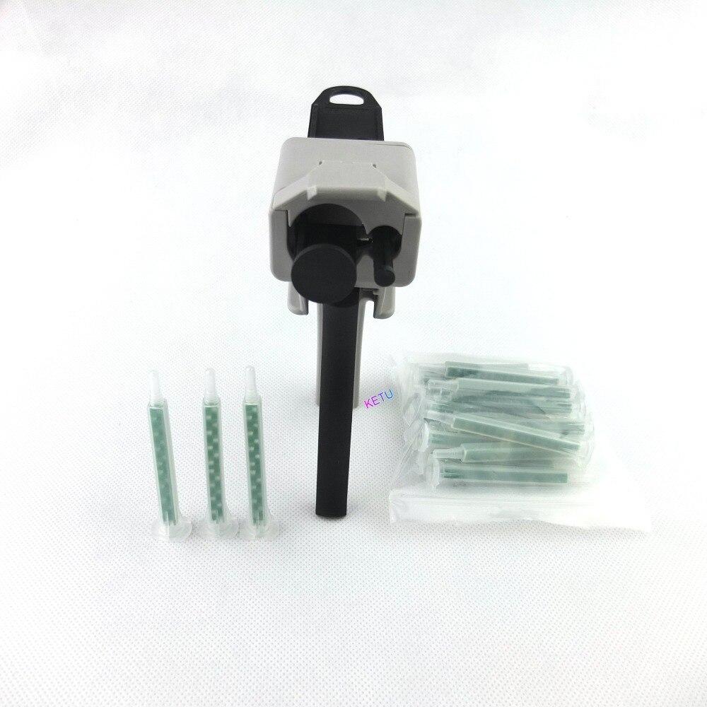 Epoxy AB Glue Manual Dispenser Gun 50ml ratio 10:1 W/ Quadro Static Mixer Nozzle  5.3-16<br><br>Aliexpress