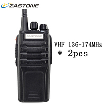 2pcs Zastone ZT-A9 VHF 136-174MHz Walkie Talkie 10W Super Power 10KM Long Distance Two Way CB Ham Radio Portable HF Transceiver(China)
