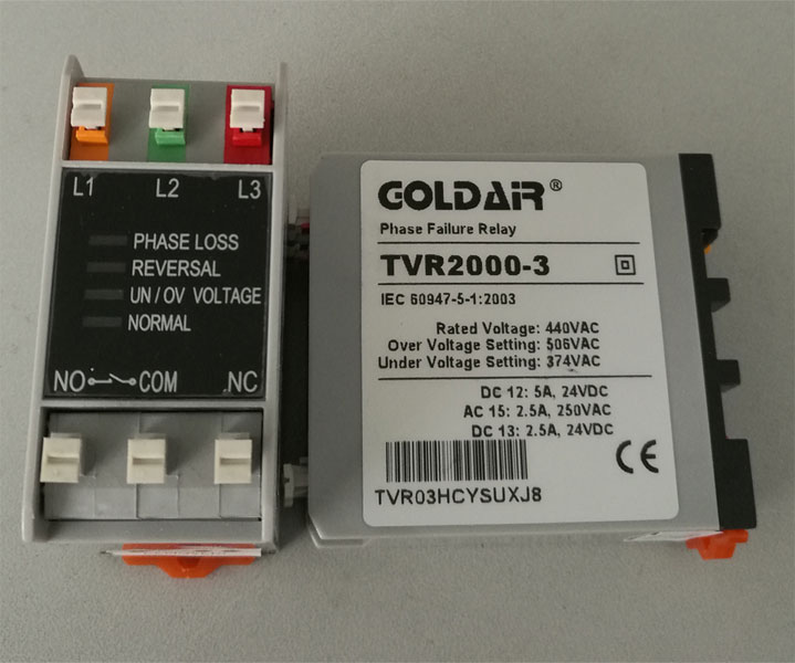 Phase sequence relay TVR2000-3 440V phase loss phase protection relay<br>