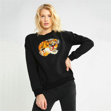 autumn fall fashion casual tiger embroidery hoodie female winter sweatshirt polerones jersey Q031