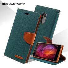 MERCURY GOOSPERY coque For Xiaomi Redmi Note 4 Case Canvas Leather Stand Cover with Card Slots for Xiaomi Redmi Note 4 - 5.5 ''