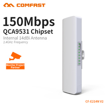 COMFAST CF-E214N-V2 high power 14dBi antenna Outdoor Wifi Receiver Long range Coverage signal booster/amplifier outdoor CPE/AP