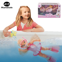 real silicone baby electric reborn kit dolls toy set for girl toys for hildren simulation expression dolls swimming bath doll