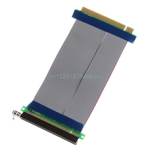 PCIe 16X PCI Express PCI-E 16X to 16X Riser Extender Card Adapter Flexible Cable