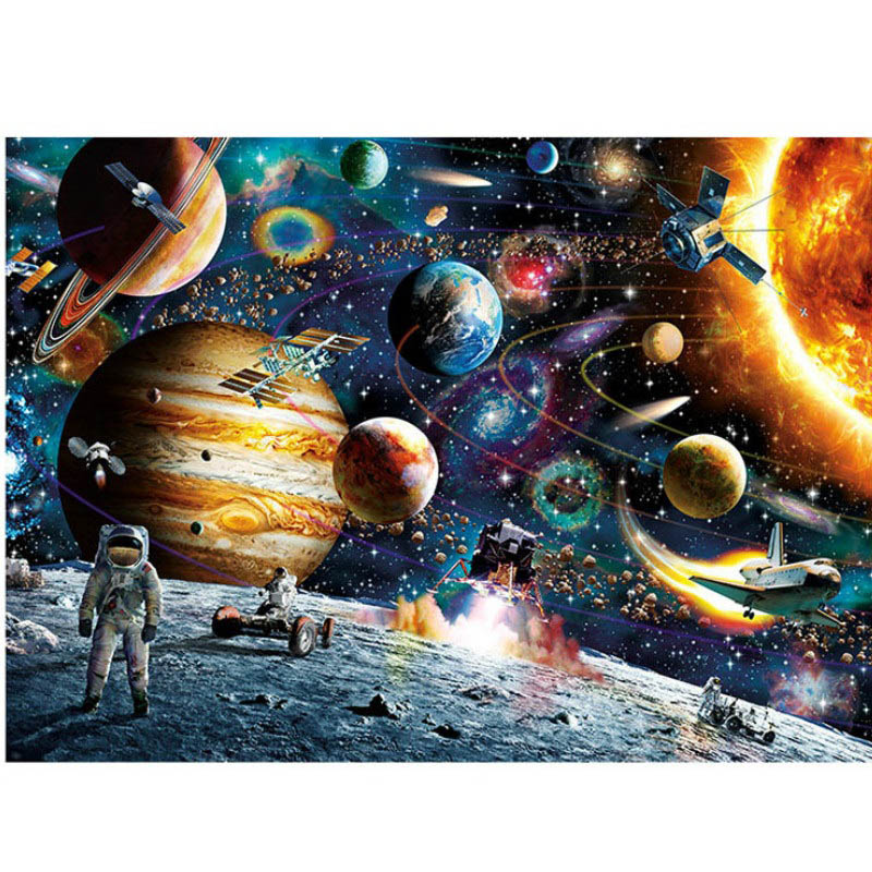 Puzzle Toy Landscape Cartoon Adult Puzzle 1000 pieces jigsaw Puzzles(China)