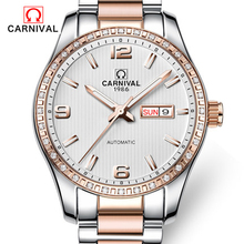 Carnival full automatic machinery men watch casual fashion waterproof night light dual calendar male watch
