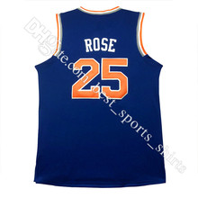 #25 Derrick Rose Jersey 2016 New Men's Wholesale #25 Derrick Rose Basketball Jerseys stitched embroidery Logos Free Shipping