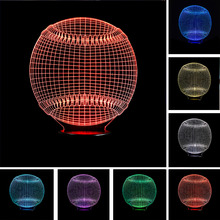 New MLB Baseball 3D Light Hat Sporting Lighting 7 Color Changing LED Night Light Touch Desk Table Lamp Child Kids Sleeping Gifts(China)