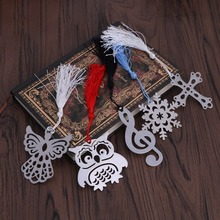 1PC Mini Stylish Bookmark Stationery Silver Color Metal Gift Bookmarks Style