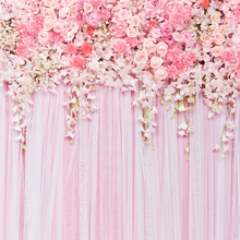 8x8ft Theme Wedding Backdrops Flower Floral Curtain for Photo Studio Wedding Background Photography D-9354