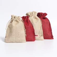 5Pcs/lot Wholesale Big Size Drawable Cotton Linen Christmas Wedding Gift Bags Jewelry Candy Packing Drawable Bags&pouch 13*18cm