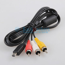 Mini USB to 3 RCA AV Cable Audio Video Cable for 60d 70d 500d 600d 700d 750d 100d 1200d t3i t4i g12 g15 g16 digital camera