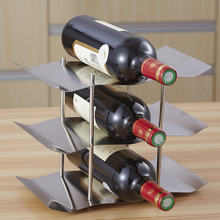 . Fashion Stainless steel wine holder hanging fashion bar wines shelf creative  frame wall thickening wine