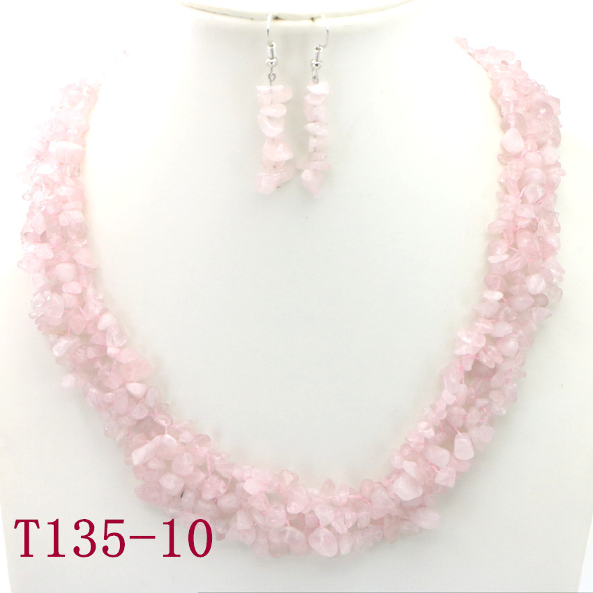 10 Natural Powder crystal Necklace grandma necklace kids necklaces big sister necklace daughter necklaces for girls gemstone necklace silver charms (11)