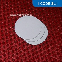 CT20 Diameter 20mm RFID PVC Tag NFC Coin Tag for asset management ISO15693 13.56MHz ISO18000-3 1024Bit with I CODE SLI Chip