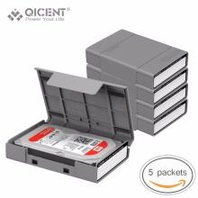 QICENT 5Psc/lot Portable 3.5'' External SATA IDE SAS Hard Drive Storage Protective Case Cover - Gray Color(China)