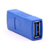 10pcs/lot Hot USB3.0 Type A Female to Female Adapter Converter Extension Plug Connector USB 3.0 AF To AF Connector adpater(China)