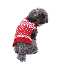 Halloween Christmas Puppy Pet Clothing Dog Snowflake Pattern Sweaters Christmas Dog Clothes Supplies For Autumn And Winter(China)