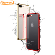 TORRAS Soft Rubber TPU Phone Case for iPhone 8 Clear Phone Protective Back Cover Luxury Fashion Phone Case for iPhone 8 Plus(China)