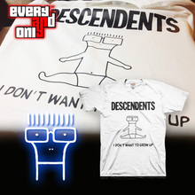 Descendents Punk rock Band I Don't Want To Grow Up short-sleeve T-shirt tee t(China)