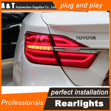 A&T Car Styling for Toyota Camry Taillights 2015 New Camry V55 LED Tail Light Rear Lamp DRL+Brake+Park+Signal