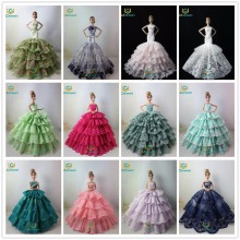 Not Contain Doll ! Ucanaan 15 Models Fishtail Wedding Party Dress For Barbi Doll Limited Collection Elegant Handmade Dress Gift(China)