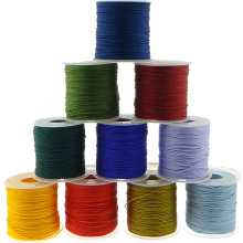 100Yards 1MM Waxed Thread Cotton Cord Plastic Spool String Strap Wholesale Necklace Rope Bead For Necklace Bracelet Making