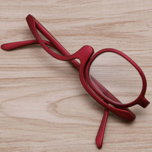 Red Color Magnifying Glasses Makeup Reading Glass Folding Eyeglasses Cosmetic Glasses Makeup Accessories