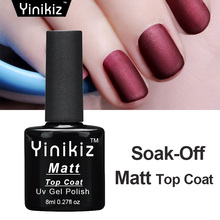 Yinikiz Cleaning Matt Top Gel Vernis Matt Top Coat Nail Gel Polish Set Long Lasting Matte Top Coat LED UV Nails Gel Lacquer