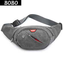 BOBO New Retro Men Waist Bag for Men Women Fanny Canvas Waist Pack high quality Money Belt travelling Mobile Phone Bag