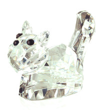 H&D Xmas Gift 2.2''Clear Cat Figurines Paperweight Crystal Crafts Art&Collection Table Car Ornaments Souvenir Home Wedding Decor(China)