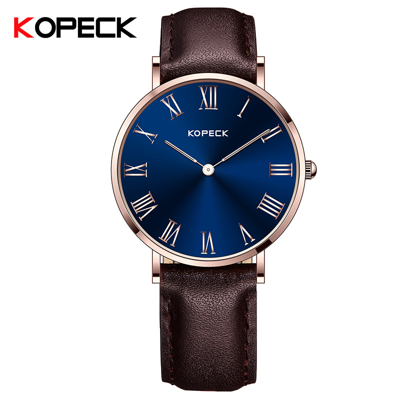 KOPECK Watch Women Stainless Steel Case Leather Band Casual Fashion Female Watches Luxury Brand Quartz Watch Nwanyi Isiokwu<br>