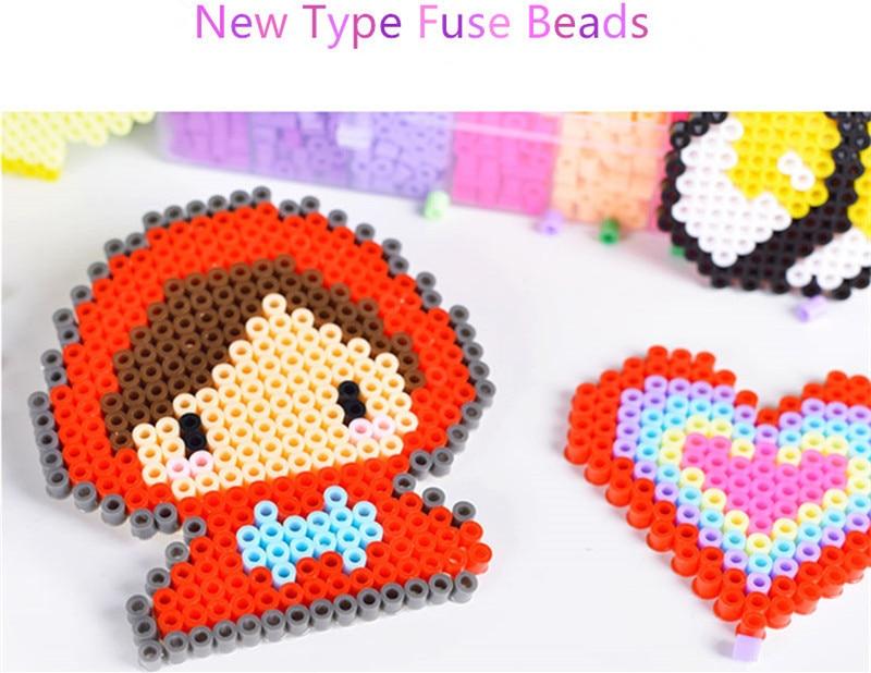 New 1000pcs Magic Hama Beads Perler 5mm 3D Puzzle Craft Educational Toys 37color