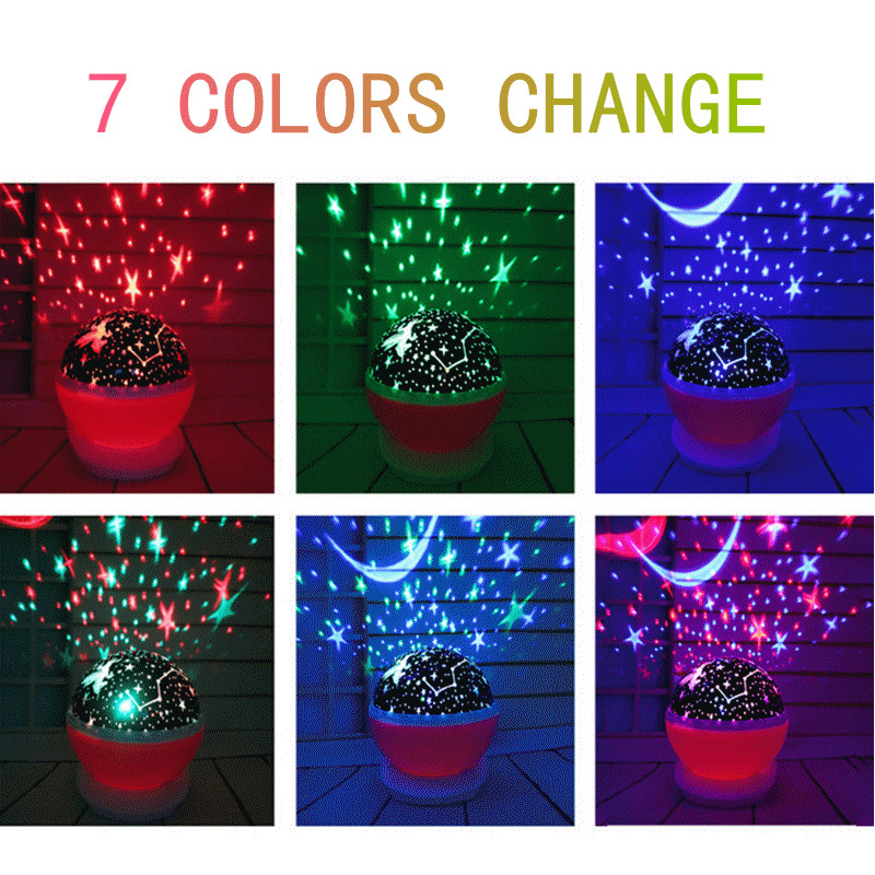 3-Stars Moon Sky Projector Baby Toys Glow In The Dark Child of Light For Boys Girls Christmas Halloween Creative Birthday Gifts_