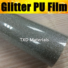 Top quality Silver glitter PU vinyl for plotter cutting with size:50X100CM/LOT, glitter heat press vinyl pu film