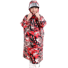 New Arrival Camouflage Poncho Kids Raincoat Boys Girls Rainwear Children Rain Coat Outside Travel Rain Gear