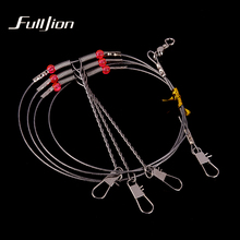 Fulljion Stainless Steel Fishing Rigs Wire Leader Rope Line Swivel String Hooks Balance Bracket Fishing Tackle Accessories(China)