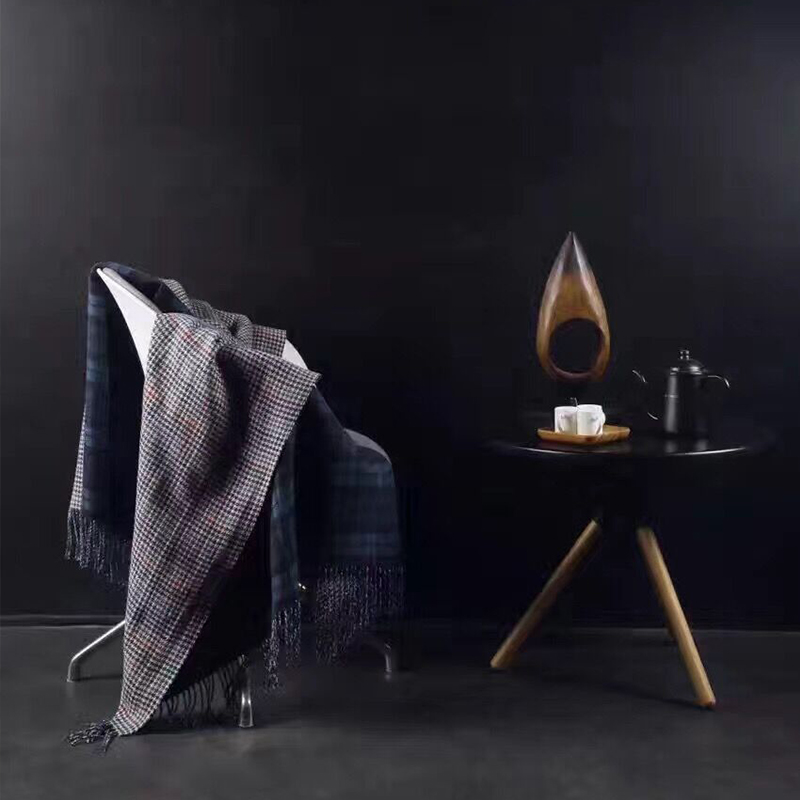 ADREAM New 100% wool blanket, double sides HOUNDSTOOTH pattern shawl Car Swaddling Sofa Bed Plaid Cover Blankets winter poncho<br><br>Aliexpress