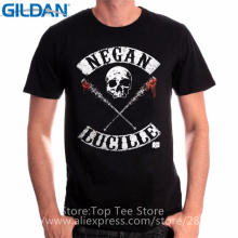Different Colours High Quality Gildan Short Sleeve Men Top The Walking Dead Negan Lucille Crew Neck T Shirt
