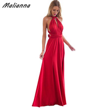 Women Convertible Multi Way Wrap Maxi Dress Backless Sexy Beach Sundress Bridesmaid Party Dresses Bandage Bodycon Long Prom Gown(China)