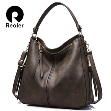 REALER brand handbag women shoulder bag female casual large tote bags high quality artificial leather ladies hobo handbags(China)