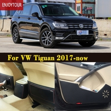 Car pads front rear door Seat Anti-kick mat Car-styling Accessories For VW Volkswagen Tiguan 2017 2018 2th generation(China)
